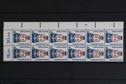 Deutschland, MiNr. 1398 A, 12er Bogenteil, Ecke Re. Oben, FN 1, Postfrisch / MNH - Nuevos