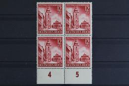 Deutsches Reich, MiNr. 808, 4er Block, Unterrand, Postfrisch / MNH - Neufs