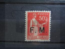 VEND BEAU TIMBRE DE FRANCHISE MILITAIRE DE FRANCE N° 7 , X !!! (b) - Franchise Stamps