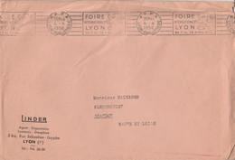 LETTRE EN PORT PAYE DE LYON 1956 - 1961-....