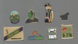 PINS PIN'S SPORT GOLF 829 TIMBRE LEMETEA BOYS CLUB MARSEILLE AIX US OPEN JEZEQUEL CASTELLAS LOT 8 PINS - Golf