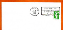 91 GRIGNY  SQAURE CHARLES DE GAULLE  1990 Lettre Entière N° KL 967 - Annullamenti Meccanici (pubblicitari)
