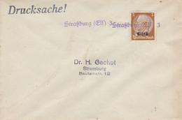 Env Affr Michel Elsass 7 Obl Straßburg (Elß) 3 Qdressée à Stra¦burg - Alsace Lorraine