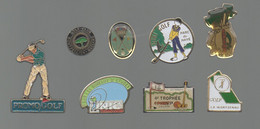 PINS PIN'S SPORT GOLF 831 PROMO MONTPELLIER PARC DE HAYE INIC LA WANTZENAU POINT P CHAPIN LOT 8 PINS - Golf