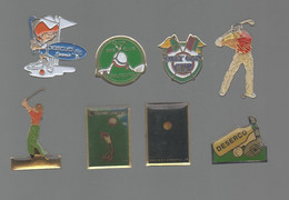 PINS PIN'S SPORT GOLF 832 DESERCO LANCOME PASCUAL OLLY GAN CLUS DES ELUS POLITIQUE  LOT 8 PINS - Golf