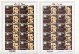 2021  Moldova ,100th  Birth Anniversary Of Valeriu Gafencu , Romania , Tipe 1 With Error + Tipe 2 , Sheetlets , MNH - Moldova
