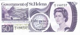 BILLETE DE LA ISLA SANTA HELENA DE 50 PENCE DEL AÑO 1979 SIN CIRCULAR (UNCIRCULATED) (BANKNOTE) - Saint Helena Island