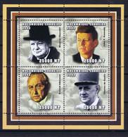 Mozambique Space 2002 Kennedy, Churchill, De Gaulle And Adenhauer  Nice Sheet - Mozambique