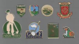 PINS PIN'S SPORT GOLF 833 MAGIC PARK D'ARDREE TOURS ROBERT TRENT JOHN GONVILLE GOLF MAGAZINE  LOT 8 PINS - Golf