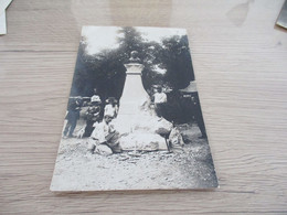 Carte Photo 65 Hautes Pyrénées Cauterets 1910 Sculpture En Cous D'un Buste - Cauterets