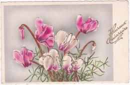Fêtes - Voeux : Anniversaire : Carte à Paillettes : Heureux Anniversaire : Fleurs : édit. - Superlux N° - Cumpleaños