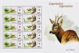 "Vel MyStamps  ""Capreolus Capreolus"" Gegomd, Ontwerp A. Buzin - 1985-.. Oiseaux (Buzin)"