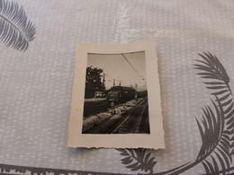 P-146, Photo,  Train En Gare De Culoz, Ain, Juillet 1949 - Eisenbahnen