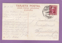 "CARTE POSTALE AVEC CACHET AMBULANT ""RAPIDO MADRID-HENDAYA"". - 1931-50 Brieven"