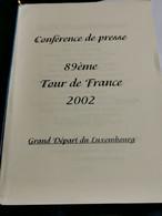 Luxembourg MENU, Tour De France Départ Luxembourg 2002. Cyclisme - Private
