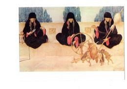 Cpm - Gustav-Adolf Mossa - LES PARQUES - Femme CHEVEUX LONGS Ciseaux Fileuse Rouet Sablier Chèvre - Paintings