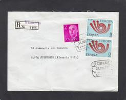 """LETTRE RECOMMANDÉE DE VINAROS AVEC E.A. 2 TIMBRES """"EUROPA 73"""". - 1971-80 Covers"""