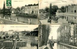 BOURGES = Canal = Lot De 4 Cartes  2477 - Bourges