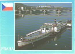 Czech:Praha, Paddle Steamer Vltava - Steamers