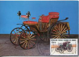 65162 Comores  Maximum 1984  Oldtimer,  Auto Of 1893 Benz  Victoria - Voitures