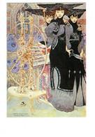 Cpm - Gustav-Adolf Mossa - Les PARQUES Femme Oiseau Rapace Rouet Partition Rat Souris Chat Hibou Ciseaux Tête De Mort - Paintings