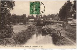 PENICHE         SOISSONS   LE CANAL ET SUCRERIE DE VILLEMPART - Houseboats