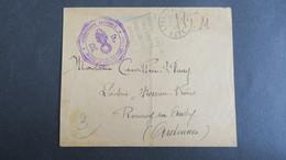 Lettre En Franchise Militaire Mai 1940 Cachet Gendarmerie Nationale De Lyons La Foret Obl Daguin - Guerra De 1939-45