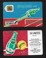 Télécarte Roland Garros Paris 1989 Perrier / 50U - Phonecards: Private Use