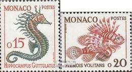 Monaco 651-652 (kompl.Ausg.) Postfrisch 1960 Fische - Neufs
