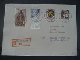 Deutschland Alliierte Besetzung Franz. Zone 1948- Reko Rheinland-Pfalz Gelaufen Remagen - Aurich MiNr. 1, 2, 15 - Franse Zone