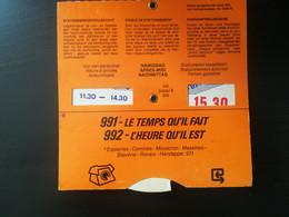 DISQUE CONTRÔLE STATIONNEMENT PUBLICITÉ RÉGIE TÉLÉPHONE R.T.T. BELGIQUE WALLONIE PUBLICITÉ VIEUX PAPIERS - Advertising