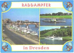 Germany:Dresden, Steam Ship Diesbar And Dresden - Steamers
