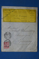 V20 MAROC FRANCE BELLE  LETTRE  RARE  1911  TANGER  POUR EPERNAY  FRANCE+ MARINE + AFFRANCH. PLAISANT - Lettres & Documents