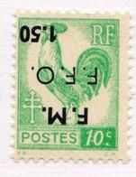 COGNAC (surcharge Renversée) 10cm Vert - Liberation