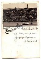 Litho Souvenir De Constantinople (Istanbul) Gel. 6.8.1897 (ohne Briefmarke) - Turkey