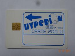 CARTE A PUCE CHIP CARD CARTE FIDÉLITÉ HYPERI IEM SA GENÈVE SUISSE - Cartes De Fidélité Et Cadeau