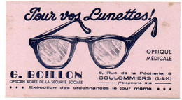 Buvard Lunettes Boillon à Coulommiers. - L