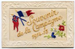 "RC 21117 FRANCE CARTE BRODÉE  "" SOUVENIR DE LA CAMPAGNE 1914 - 15 ""  MILITARIA TB - Bordados"