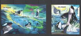 ST2041 2015 NIGER FAUNA MARINE LIFE LES ORQUES ORCAS KB+BL MNH - Balene