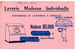 Buvard Laverie Moderne. Madame Bélouis à Meaux. - L