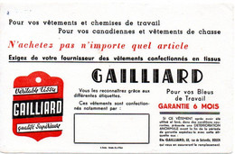 Buvard Tissu Gaillard. Rouen. - L