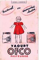 Buvard Yaourt OFCO. - L