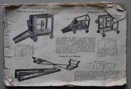 MECCANO, Catalogue Incomplet - Machines
