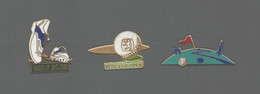 PINS PIN'S SPORT GOLF 840 AB ARTHUS BERTRAND PEUGEOT PARCOURS GOLF PLUS    LOT 3 PINS - Golf
