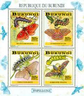 BURUNDI 2014 -  Chenilles Et Papillons - I - 4 Timbres 2025 BIF - 2010-..: Nuovi