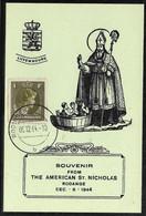 Luxembourg Luxemburg Carte Souvenir American St. Nicholas Rodange 06.12.1944 Charlotte Retour 1 F Prifix 359 - Cartas