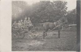 PHOTO ALLEMANDE - GUERRE 14-18 - ATTELAGE SOLDATS D'UNE MUNITIONS KOLONNE - Guerra 1914-18