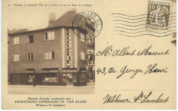 1a. WOLUWE ST LAMBERT : Rue De La Drève Et Rue Du Bois De Linthout - TRES RARE CPA - Cachet De La Poste 1935 - Woluwe-St-Lambert - St-Lambrechts-Woluwe