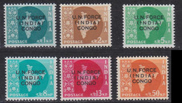 INDIEN INDIA [Kongo] MiNr 0001-06 ( **/mnh ) - Military Service Stamp