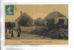 25 -  MAMIROLLE ( Doubs ) Rue De La Gare. Asile Agricole. Carte Toilée - Otros Municipios